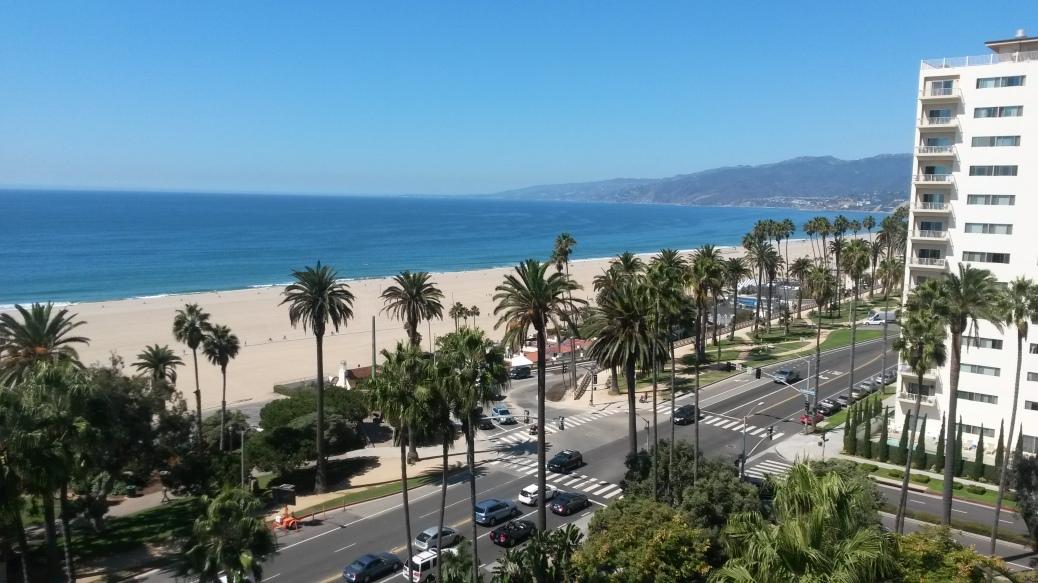 Santa Monica beach view